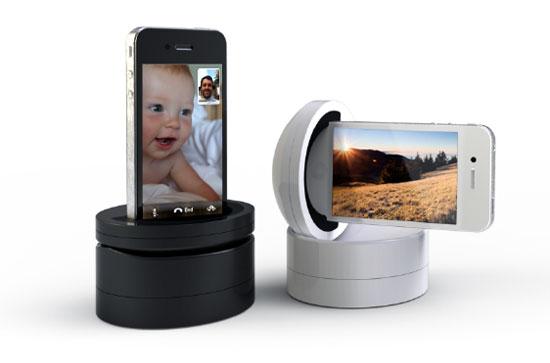 伽利略通过改造望远镜,为天文观测带来变革,成为近代实验科学的先驱。而Kickstarter上一个名为伽利略(Galileo)的项目则试图为iPhone添加一个小小的底座,从而彻底改变人们拍照、视频通话的方式。 当你的iPhone装上这个名为伽利略的底座后,你便可以通过手头上的其他iOS设备比如iPad、iPod Touch或者iPhone操控它。手指在这些iOS设备上滑动后,iPhone便会相应的跟随底座360度垂直和水平旋转,旋转速度可达每秒200度。这样你可以远程控制iPhone从任何角度随心所欲的