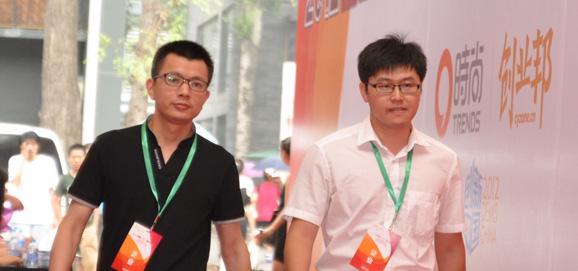 长沙市十二橡树网络科技有限公司张小铭和北京子天中意文化传播有限公司庄天鹏亮相红毯