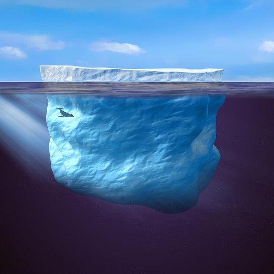 冰山理论矢量图
