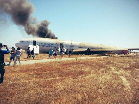 阿里巴巴员工讲述韩亚客机坠毁过程