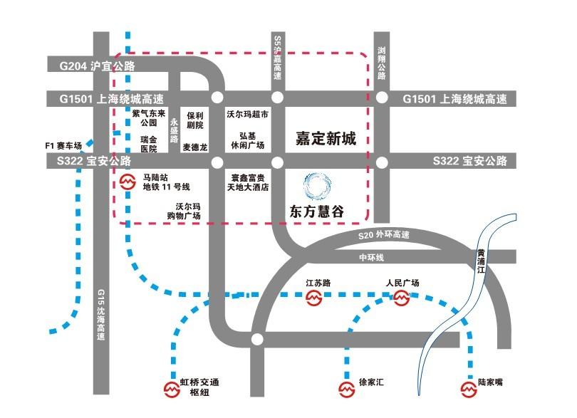 东方慧谷交通路线图