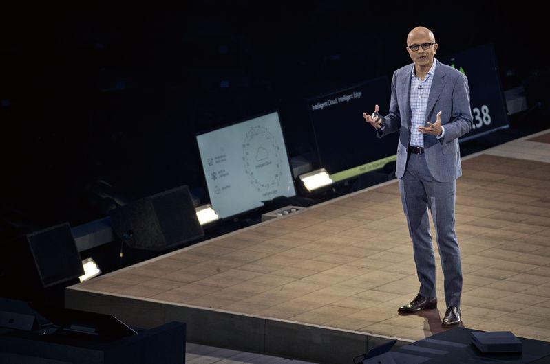 凤凰平台图片:汇丰在线 市值赶超Google、亚马逊,微软CEO独家专访
